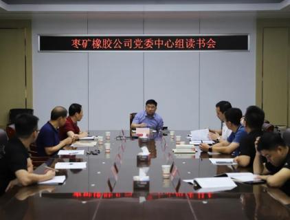 枣矿橡胶公司召开党委中心组读书会