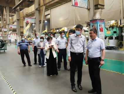 能源集团调研组到枣矿橡胶公司调研国际业务工作